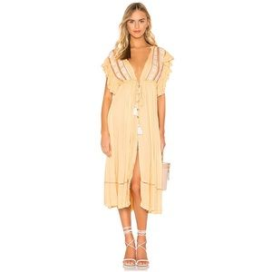 NWT! Free People Will Wait For You Midi Dress